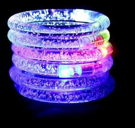 LED Flash Blink Bracelet Glow Color Changing Light Acrylic Children Toys Lamp Luminous Hand Ring Party Fluorescence Club Stage Bracelet NT