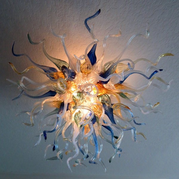 Antique Ceiling Lights Chihuly Hand Blown Glass Chandelier Lights LED Bulbs High Hanging LED Home Lamps for Living Room Dining Room