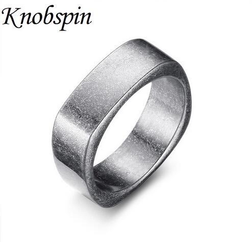 simple 7mm stainless steel wedding band ring retro ancient silver color men's ring fashion punk men biker jewelry bague homme
