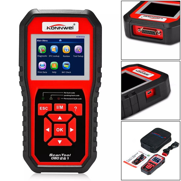 Automotive Scan Tool >> 2019 Konnwei Kw850 Obd2 Eobd Automotive Scanner Full Diagnostic Tool Diagnosis Scanner Support Eight Languages From Tring 53 47 Dhgate Com