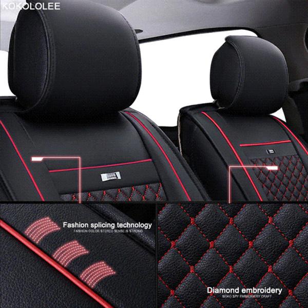 KOKOLOLEE car seat covers set for lada granta renault logan peugeot 206 geely emgrand ec7 ssangyong kyron car seats protector