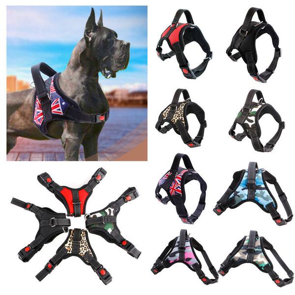 11 renkler Pet Köpek Yelek Koşum Yaka açık spor Hiçbir Çekme Ayarlanabilir Köpek Göğüs Malzemeleri FFA285 30 adet