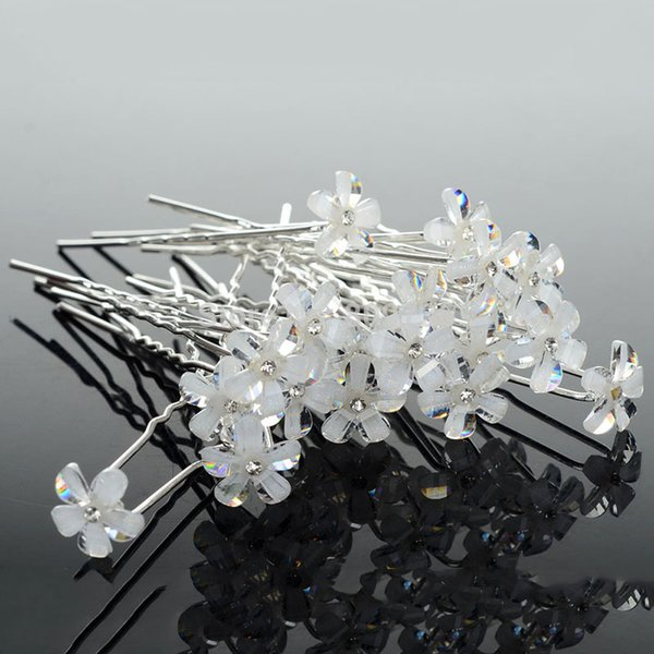 20PCS Chic Bridal Wedding Hair Pin Flower Hair Clips Bridesmaid Women Hair Accessories Jewelry Wholesale Cheap Free