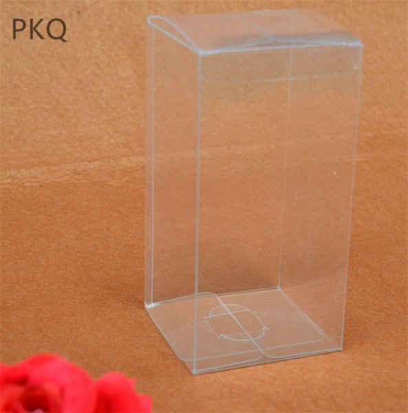 20pcs Free shipping Transparent plastic PVC box large clear plastic gift boxes for packaging toys/crafts display boxes 5x5x20cm