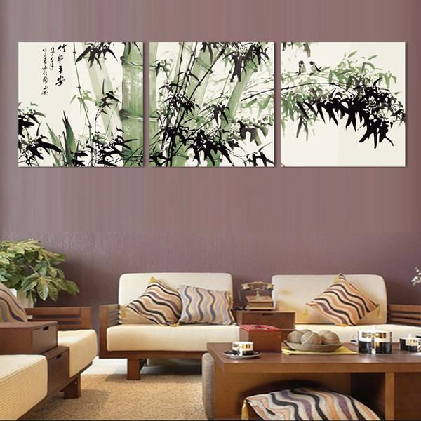 Acquista 3 Pz Bamboo Landscape HD Stampe Su Tela Stampata Pitture Murali  Pittura Soggiorno Wall Art No Frame A $27.73 Dal Kittyfang   DHgate.Com