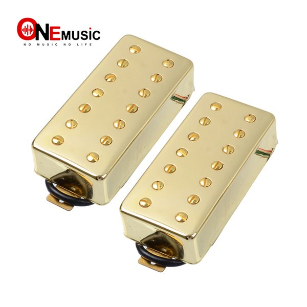 A Set 7 String Guitar Humbucker Pickup Dual in Line slotted Screw for Electric Guitar Gold