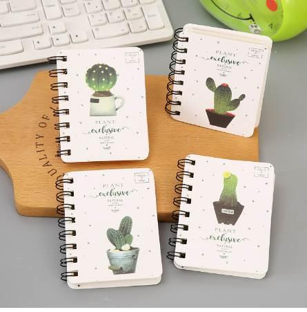 Newest Kawaii Cute Cactus Daily Office Supplies Week Planner Spiral Notebooks Day plan Diary Notepads Meno pad School Stationery