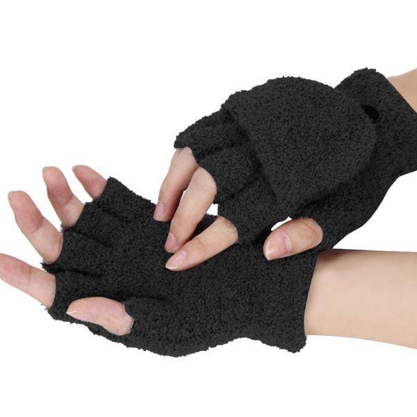 mitaines femmes mode gants 2016 filles femmes dames main poignet plus chaud gant d'hiver gants sans doigts Guanti invernali donna