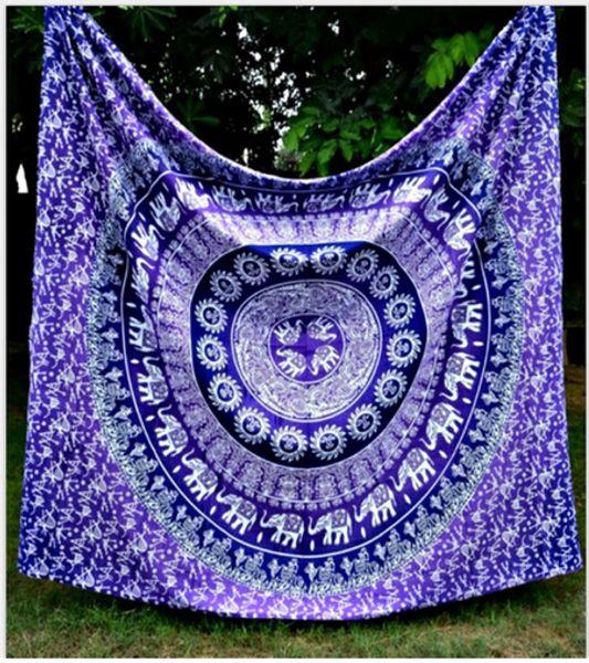150 * 130 cm novas tapeçarias boêmio mandala praia tapeçaria lance hippie yoga mat toalha elefante pavão poliéster xaile bath towel