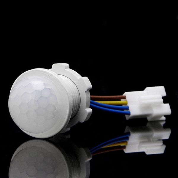 PIR Infrared Motion Sensor Switch 25*35mm White Detector IR Switch Controller For Porch Home Lighting LED Lamp