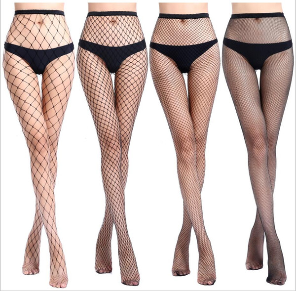 New models Thigh High Top Stockings Christmas Pantyhose Fishnet Stockings Hollow Net Pantyhose Stocking Red Black White Sale top new