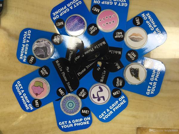 Mavi Paket ile evrensel Cep Telefonu Tutucu Genişletilebilir Kavrama Standı 360 Derece Parmak Tutucu Esnek iPhone Samsung Için DHL kargo