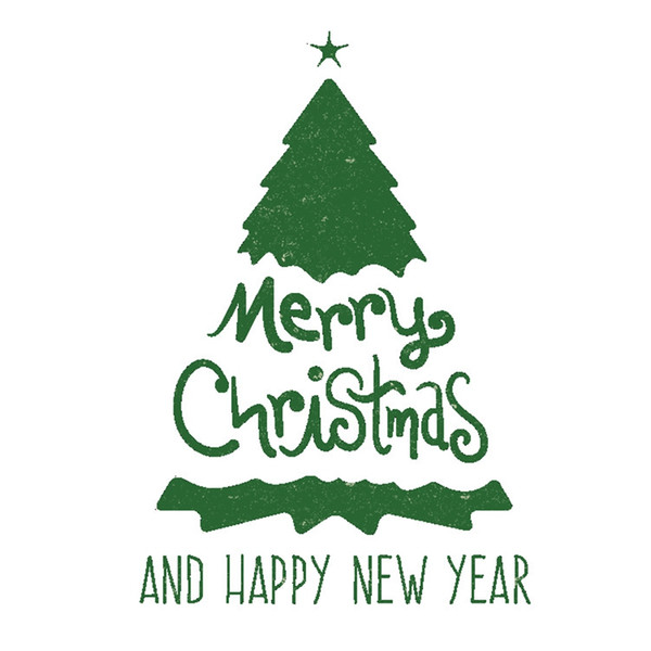 Green Merry Christmas Tree Wall Decal Happy New Year Quotes Wall Stickers  For Holiday Living Room Window Shop Showcase Bedroom Decor Wall Decal ...