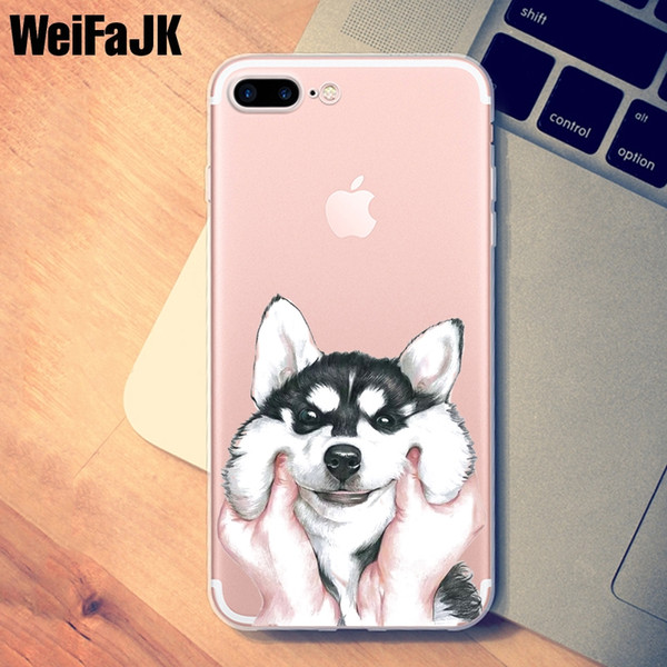 Coque pour iPhone 5s Cute Dog Cartoon Panda Adorkable Couverture TPU Silicone Coque souple pour iPhone 7 8 6 6 s 5 Plus X Coque 6320