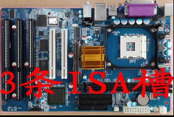 New Original 845 845GV 845GL ISA Mainboard PGA478 Motherboard 2PCI VGA LPT 3ISA Slot milling machine Industrial Motherboard