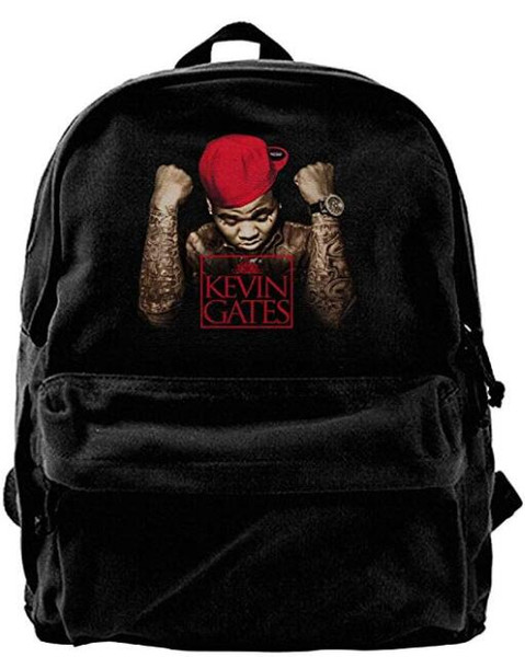 7fe2a4918a Cool Kevin Gates Logo Canvas Shoulder Backpack Backpack For Men   Women  Teens College Travel Daypack Black