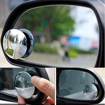TRICOLOUR 2pcs Car Mirror 360 Wide Angle Round Convex Mirror Car Vehicle Side Blindspot Blind Spot Mirror Small Round