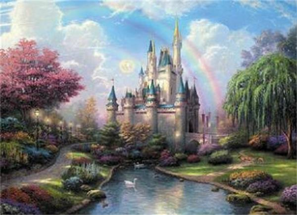 16x20 inches Dream Fairy Castle in Forest DIY Paint On Canvas drawing By Numbers Kits Art Acrylic Oil Painting Frame For Adult Teen