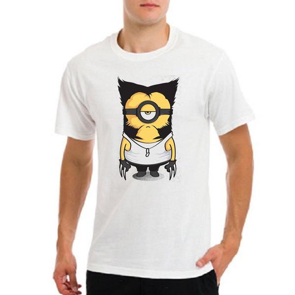 Logan wolverine xmen x-men claws minion funny gift white t-shirt