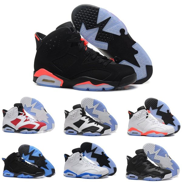 Men Basketball Shoes 6 6s Women 3M Black Cat Infrared Blue White Maroon Olympic Alternate Hare Oreo Angry bull Sports Sneakers Size 7-13