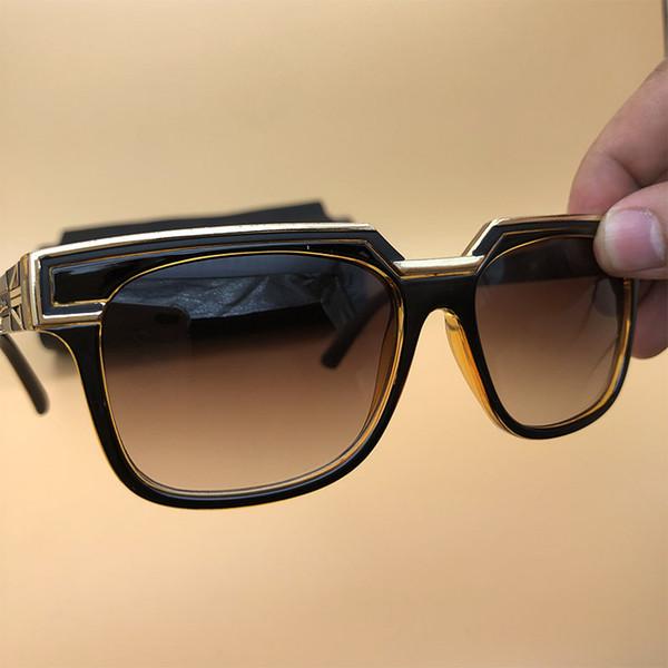 Eyewear square Sunglasses designer Legends Brown Frame Gradient Lenses Eyeglasses Germany Cheap square Frame eyewear 1617