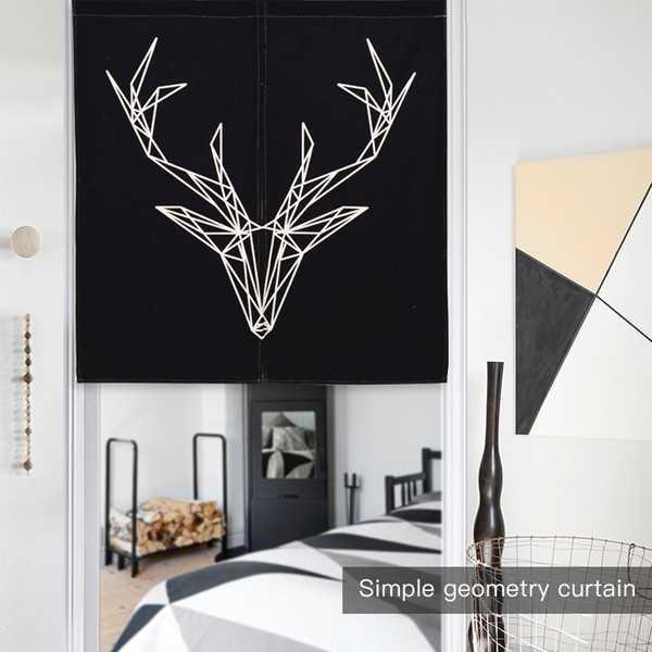 2019 Nordic Black White Deer Zebra Short Kitchen Cafe Curtains Old Vintage  Camera Quote Japanese Noren Modern Door Home Room Curtain From Suozhi1996,  ...