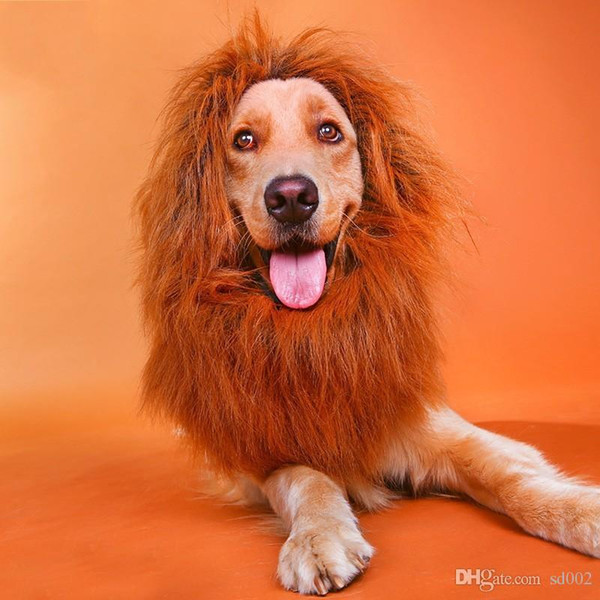 Pet Costume Hair Decorations Novelty Dog Cat Lion Mane Wigs Funny Keep Warm Head Hat For Party Fun Decoration New 16yy4 ZZ