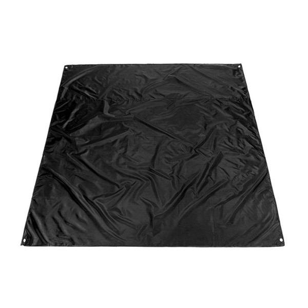 Cushion Camping Blanket Lightweight Waterproof Beach Picnic Blanket for Outdoor Activities - Size 2.1X2M (Black)