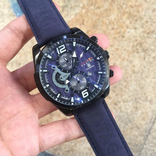 Горячие продажи бренда многофункциональный мужские часы все указатель работы кварцевые часы роскошные часы классический мужской джентльмен моды Relogio бренд наручные часы