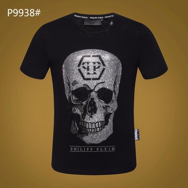 Skull T Shirts Diamond Men Cotton t-shirt Fashion Famous Design Breathable Casual T Round Neck Size M-3xl Panic Buying Men's Clothing