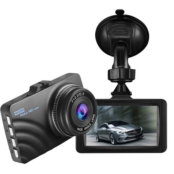 "2Ch car DVR video camera 3"" full HD 1080P auto driving data recorder 170 degrees loop recording G-sensor parking monitor motion detection"