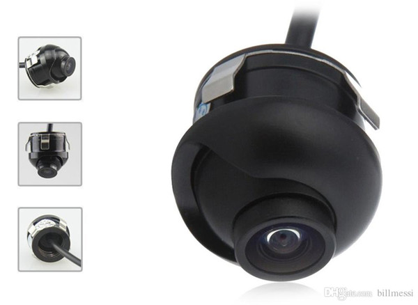 Universal Car Rear View Camera 360 Degrees Adjustable HD Color Night Vision Waterproof Car Camera Front Side Rear for Parking Monitor +B