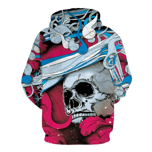 Paint Skull 3D Printed Hoodies Men Women Sweatshirts Hooded Pullover Brand Qaulity Tracksuits Boy Coats Fashion Outwear New