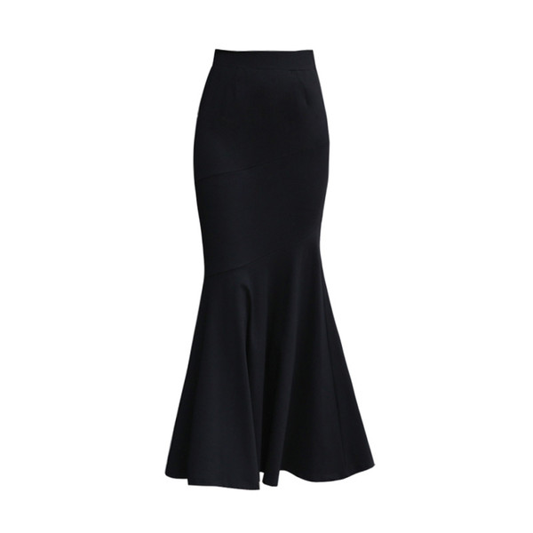 2f2763ac68 2019 Winter Long Skirt Women Black Maxi Skirt Autumn Solid Color Ankle  Length Mermaid Skirts OL Workwear Female 2327LY From Ffashions, $48.08 |  DHgate.Com