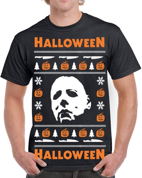 Details zu 650 Halloween Mens t-shirt Ugly christmas sweater slasher costume horror movie Funny free shipping Unisex Casual tee gift