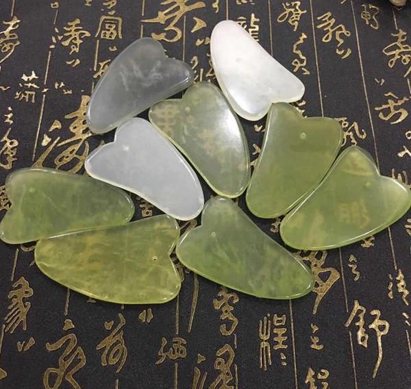 Hot Gua Sha Piel Tratamiento Facial Tratamiento Masaje Jade Scraping Tool SPA Proveedor Belleza Herramientas de Salud envío gratis