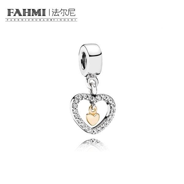 FAHMI 100% 925 Sterling Silver 1:1 Original 791421CZ Authentic Temperament Fashion Glamour Retro Pendant Wedding Women Jewelry