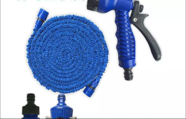 50 FT Garden Flexible Water Sprinkler Hose Water gun pipe Spray for flowers and grass and Car washing