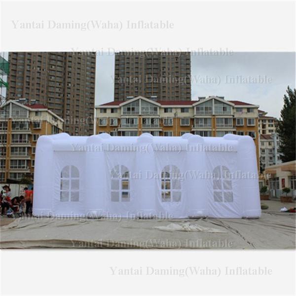 barraca branca inflável relativa à promoção da casa da barraca inflável exterior da casa do casamento com janelas