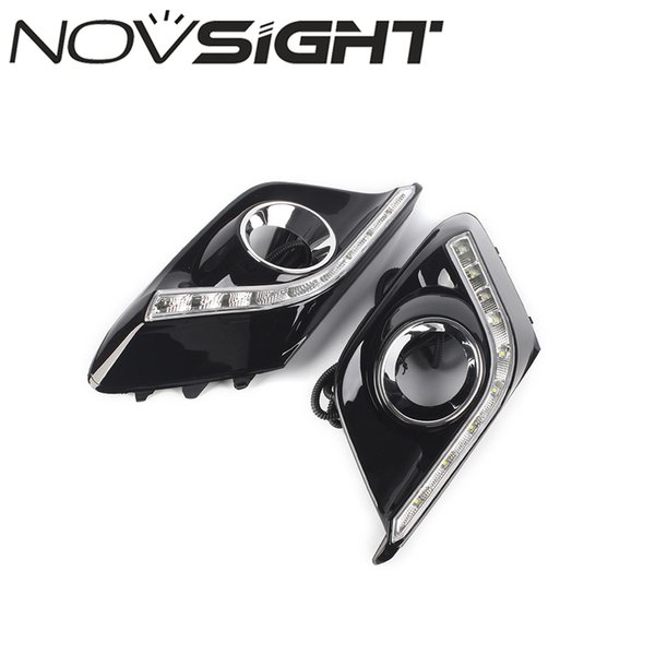 NOVSIGHT Auto Car Led Light DRL Daytime Running Lights Car Fog Lamp White For Mazda 3 Axela 2013-2016 2pcs Set D25
