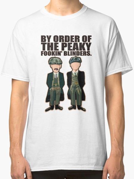 Peaky Blinders, Thomas E Arthur Mens Camisa Branca T Tamanho S-3xl T-shirt Dos Homens Tops de Algodão de Manga Curta de Fitness T-shirt