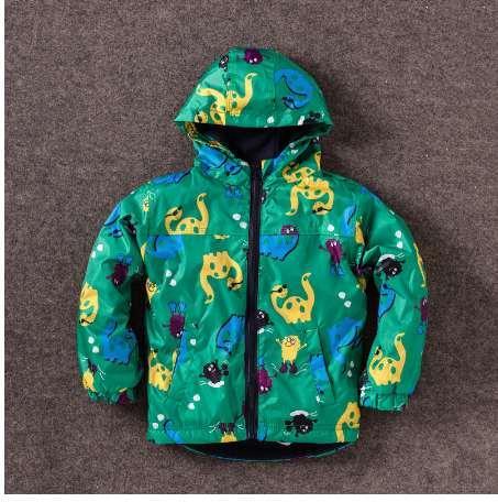 Çocuk Sonbahar Kış Kabanlar Giyim Boys Dinozor Kapşonlu Rainsuit Yağmur Ceket Bebek Çocuk Çocuk Spor Giysileri Ceketler Mont