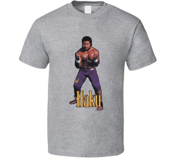 Haku WWF Retro Wrestling Camiseta Legal Casual t shirt do orgulho dos homens Unisex Nova Moda tshirt Tamanho Solto top ajax