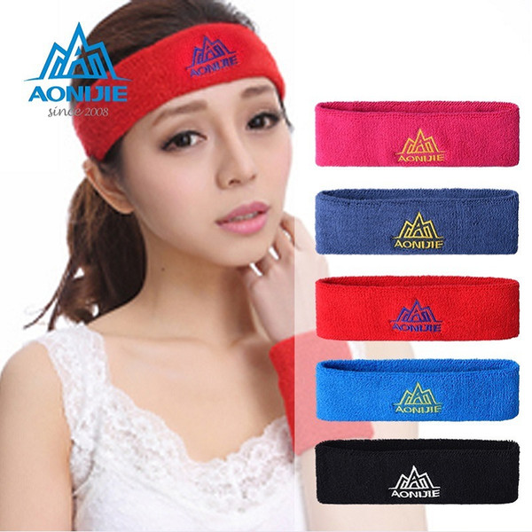 5 Colours Men and Women Sports Sweatband Hairband Exercise Absorbing Sweat Cotton Head Band Stretch Gym Yoga Headband