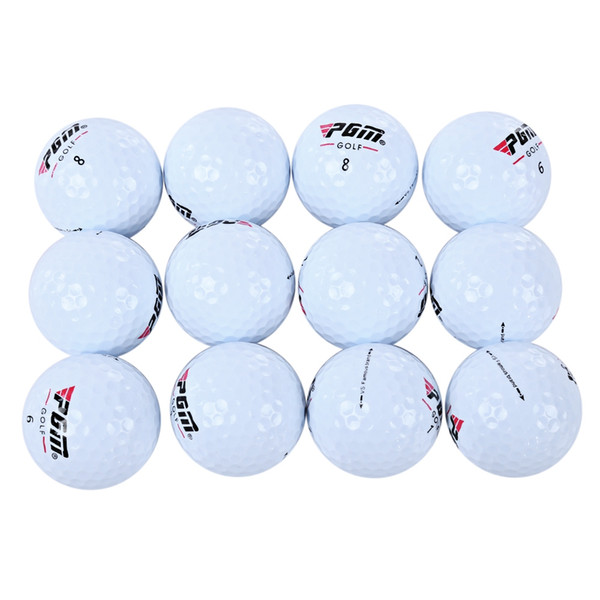 PGM 12pcs Three Layer Golf Game Ball for Practice Soft and durable cover for better greenside feel