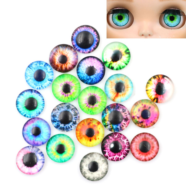 20pcs Realistic DIY Eyes Wiggle Mixed Color DIY Animal Toys Eyes for Kids Dolls