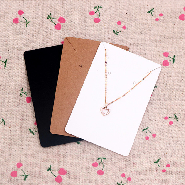 best selling 6*9cm 100pcs lot Jewelry Display Card Price Tag Kraft Paper Earring Holder Necklace Cards Can Custom Logo
