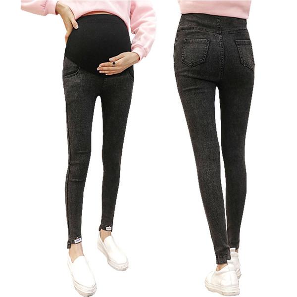 02b4b8fbb Jeans para mujeres embarazadas Pantalones Pantalones de maternidad Ropa  para embarazadas Mujeres Strench Legging de cintura