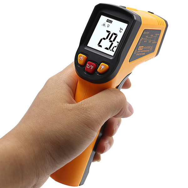 top popular High quality non-contact thermometer handheld infrared thermometer can measure water temperature GM320 -50 to 400 degrees 2021