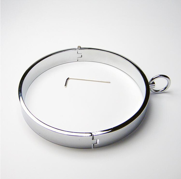 Alloying metal dog SM bondage neck ring sex toys for male and female collars of men and women Slave Collar
